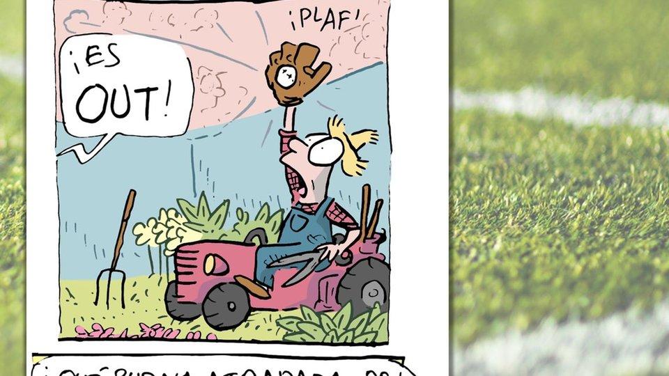 El cartón deportivo publicado en el diario  @estoenlinea  de hoy lunes